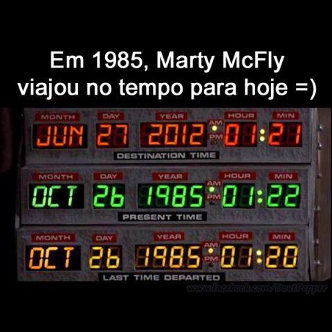 Em 1985 McFly viajou no tempo para Hoje!