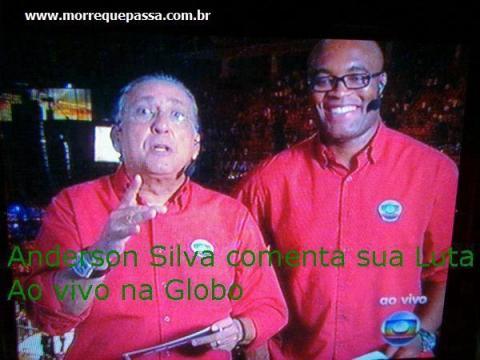 Anderson silva comenta sua luta ao vivo na Globo.