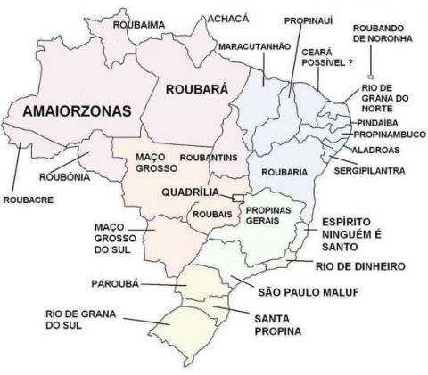 Aula de Geografia: O Mapa do Brasil versão para político