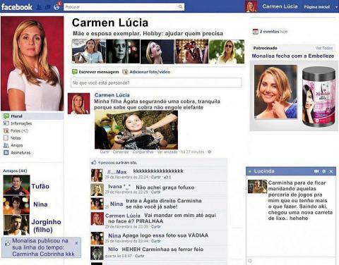 Facebook da Carminha!
