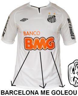 Nova propaganda na camiseta do Santos