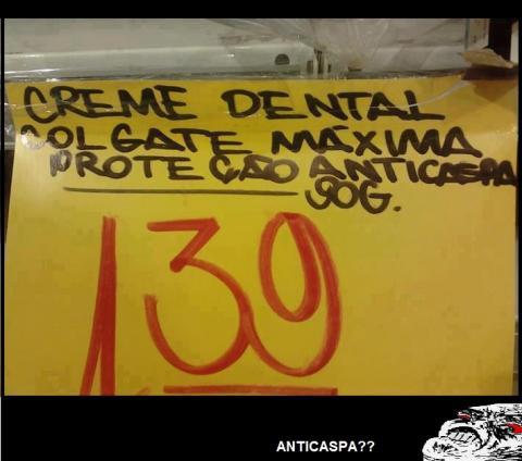 Novo creme dental, agora com máxima proteção...
