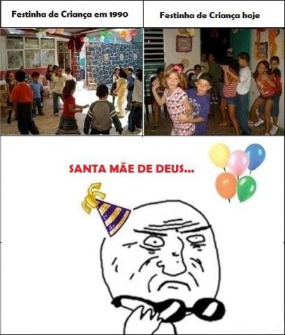 Festinha de Crianças há 20 anos atrás