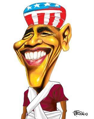 Caricatura de Barack Obama