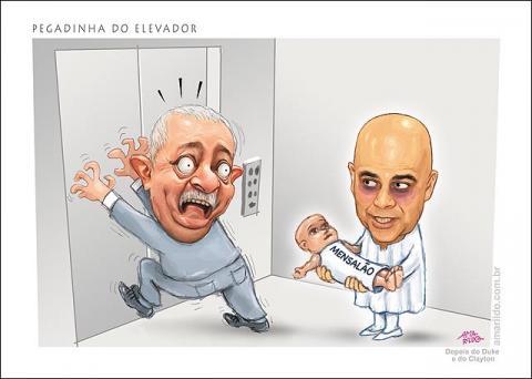 Pegadinha do elevador com o Lula