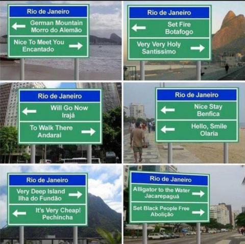 Tradução de Placas no Rio
